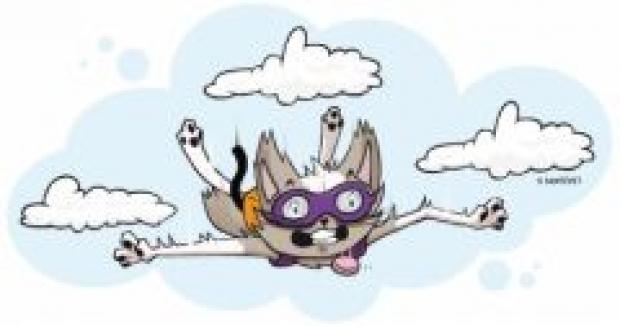 Chutes un chat ne retombe pas toujours sur ses pattes - Dessin parachutiste ...