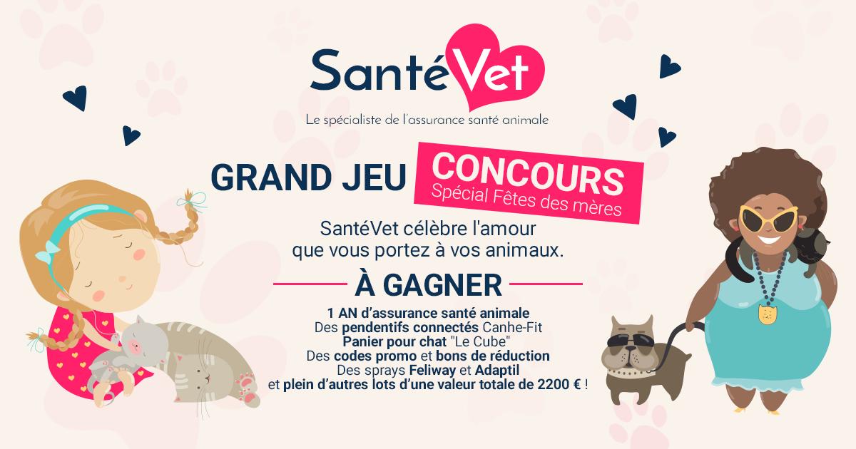 Grand Jeu Concours Santevet Special Fete Des Meres Trucs Astuces Chien Santevet